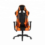 Fixed Armrest Swivel Racing Gaming Chair with Pu Wheels