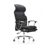 multi-functional executive reclining swivel office chair with footrest